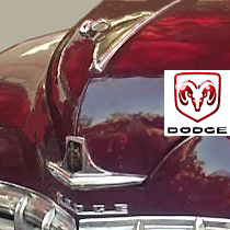 old Dodge maroon with logo